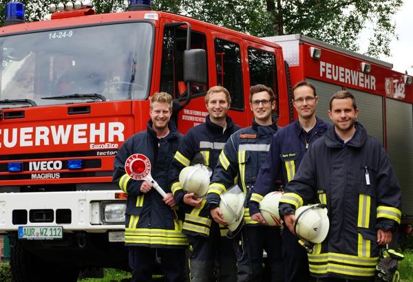 Feuerwehrmänner in der RVB
